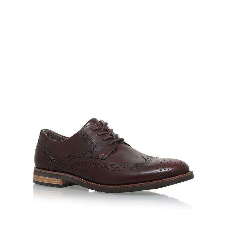 54b31f0d029ef Lh2 Wing Oxford Brown Brogue Shoes By Rockport | Kurt Geiger
