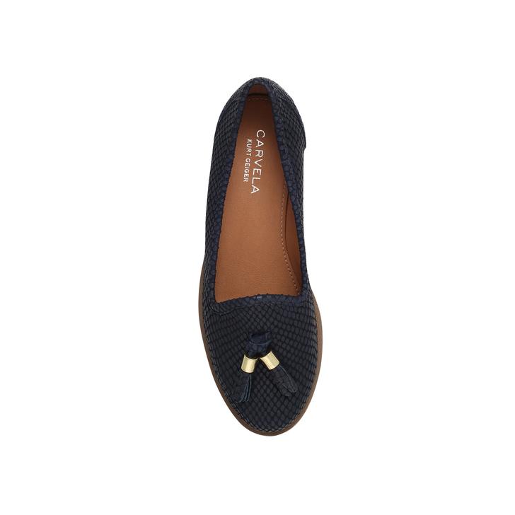 31e605a3076 Match Navy Flat Loafer Shoes By Carvela