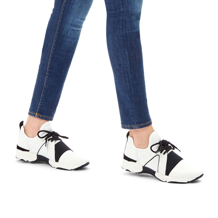 Lamar White Low Top Trainers By Carvela