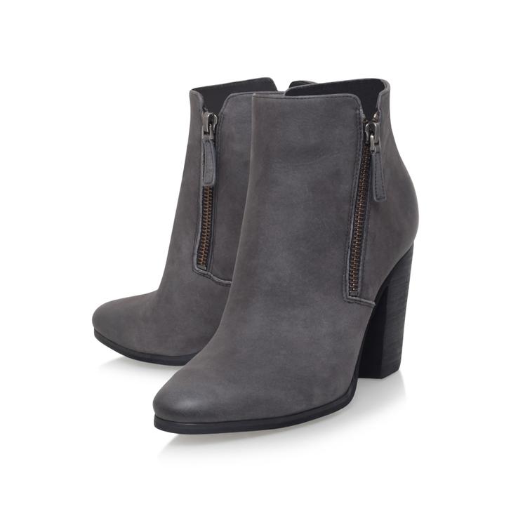 Denver Bootie Grey Mid Heel Ankle Boots