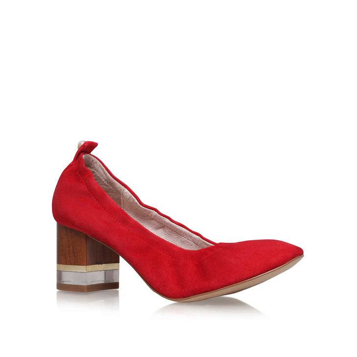 Red Patent medium heel court shoes DXkln