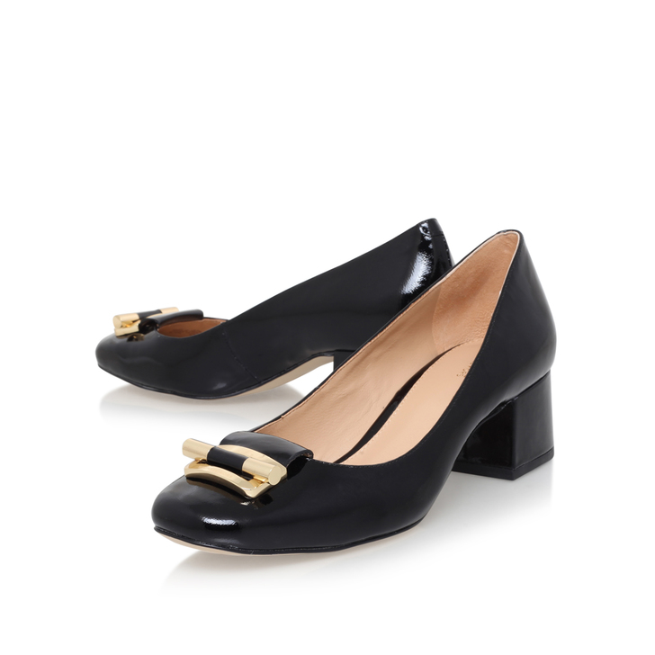 020521b8bf20 Gloria Mid Pump Black Mid Heel Court Shoes By Michael Michael Kors ...