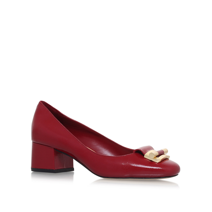 Gloria Mid Pump Red Mid Heel Court Shoes By Michael Michael Kors ...