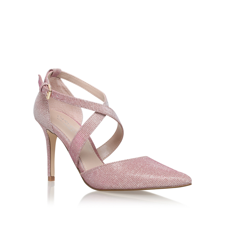 Kross 2 Pink Mid Heel Court Shoes By Carvela Kurt Geiger | Kurt Geiger
