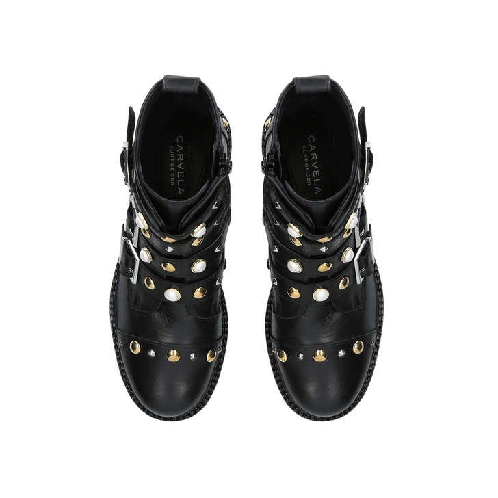 Carvela Swish - black flat ankle boots Footlocker Finishline Cheap Price 9w06FVvoW3