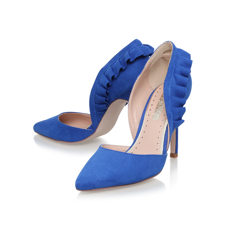 Blue High Heel Court Shoes By Miss KG