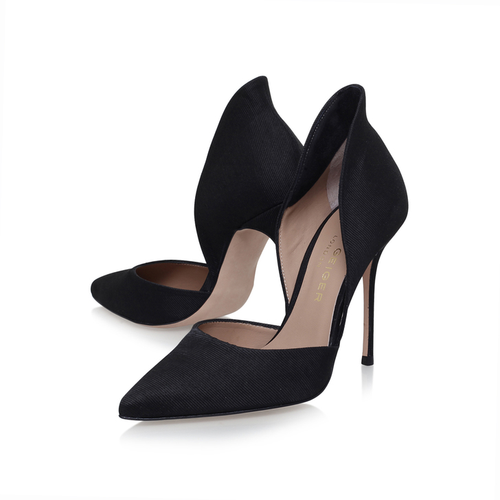 0415f9a688 Strike Black High Heel Court Shoes By Kurt Geiger London | Kurt Geiger