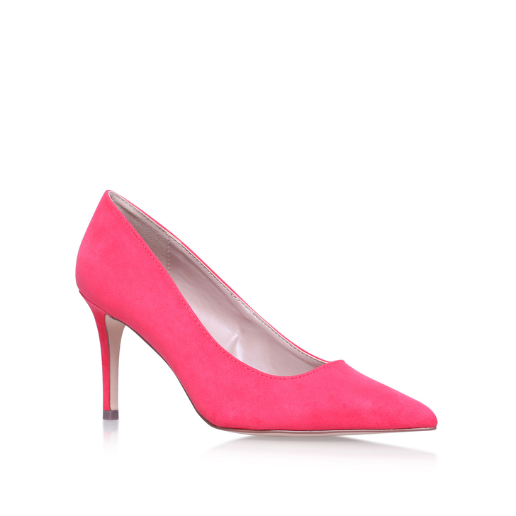 Carvela Kray2 Pink Mid Heel Court Shoes Kurt Geiger UAb5u9pwrl
