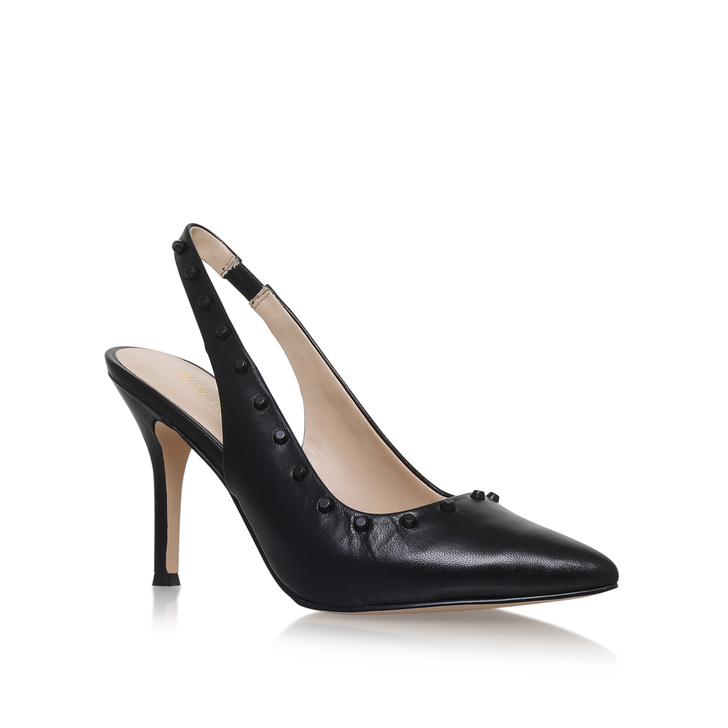 0dc1ee3d9f Fauna Black Mid Heel Court Shoes By Nine West   Kurt Geiger
