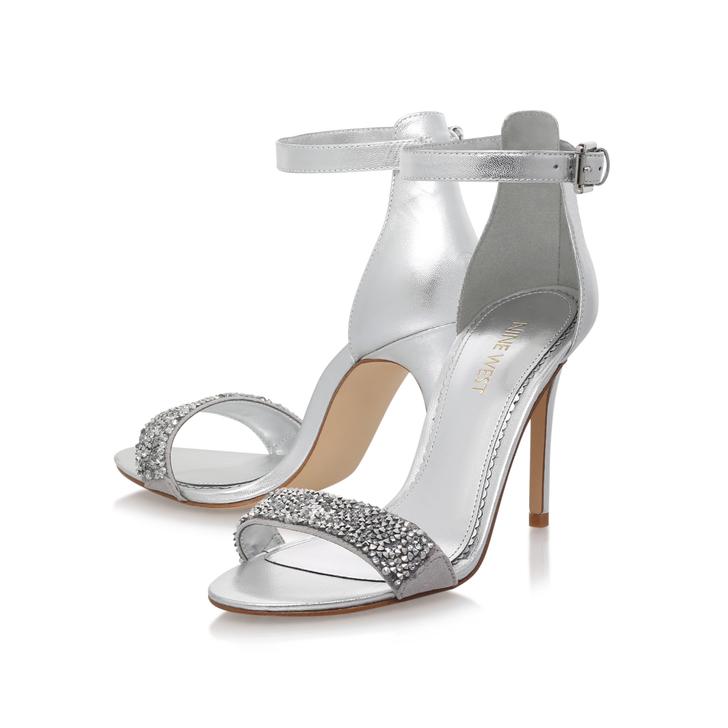 af82e55884e Mana11 Silver High Heel Sandals By Nine West