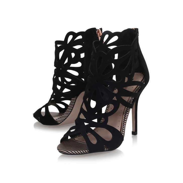 e66901f9ad3 Flutter Black High Heel Sandals By Miss KG