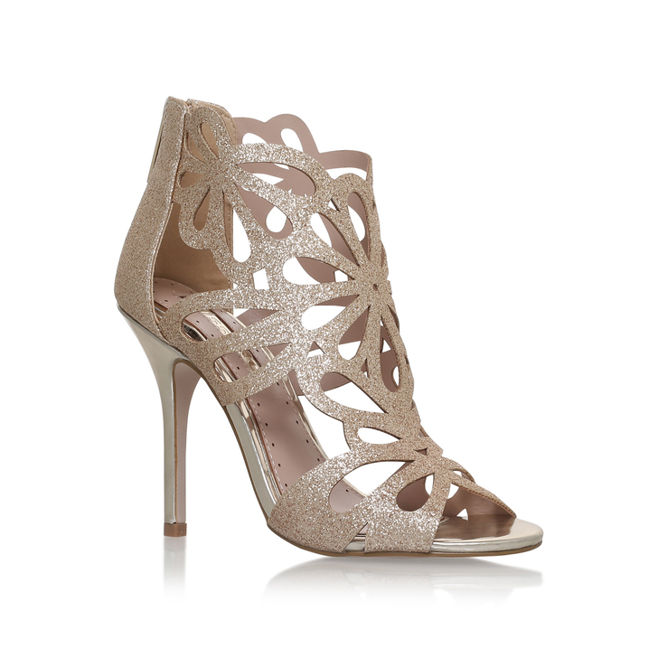 Flutter Gold High Heel Sandals By Miss KG | Kurt Geiger