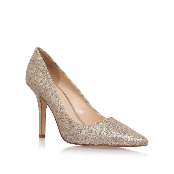 0898bb9ed80 Jackpot Gold Mid Heel Shoe By Nine West