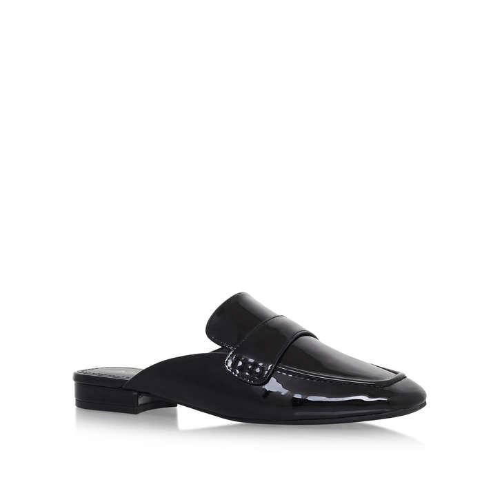 702f10b842be3 Xanadu Black Flat Slip On Shoes By Nine West