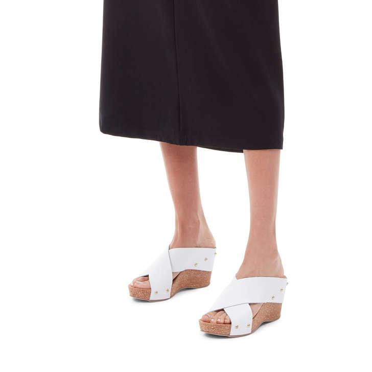 Sandals Geiger Mid By White Heel Wedge ComfortKurt Sooty Carvela 1clFKJ