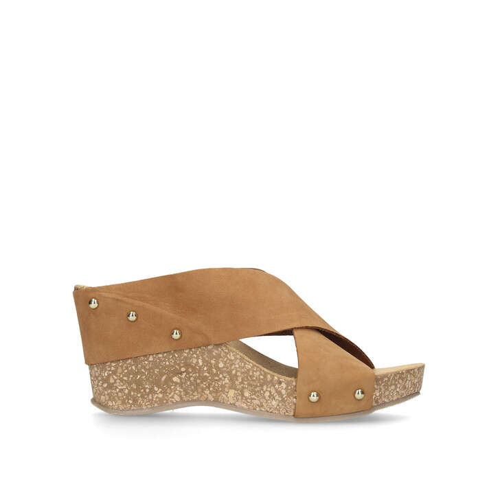 Carvela Comfort Sooty - tan mid heel wedge sandals Free Shipping Pictures Really Online Big Sale Cheap Price Free Shipping With Mastercard SL0icWSg