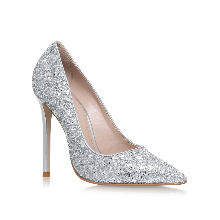 3563dd0cac0 Alice Silver High Heel Court Shoes By Carvela