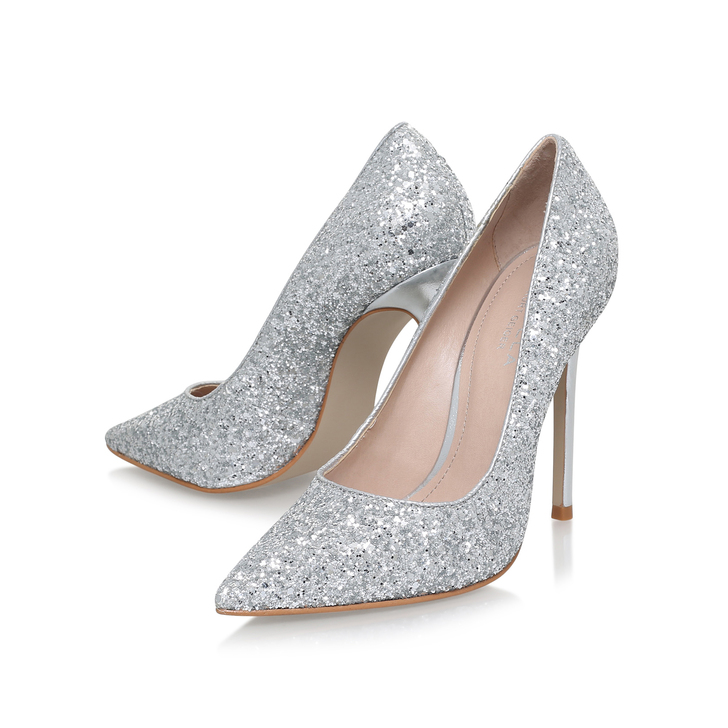 1ae3d77d9a76 Alice Silver High Heel Court Shoes By Carvela