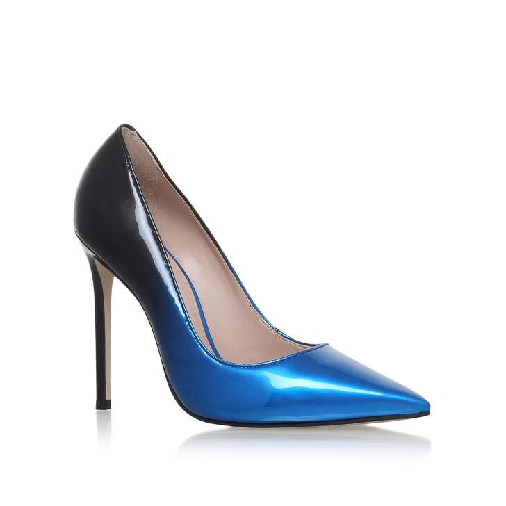 Blue High Heel Court Shoes