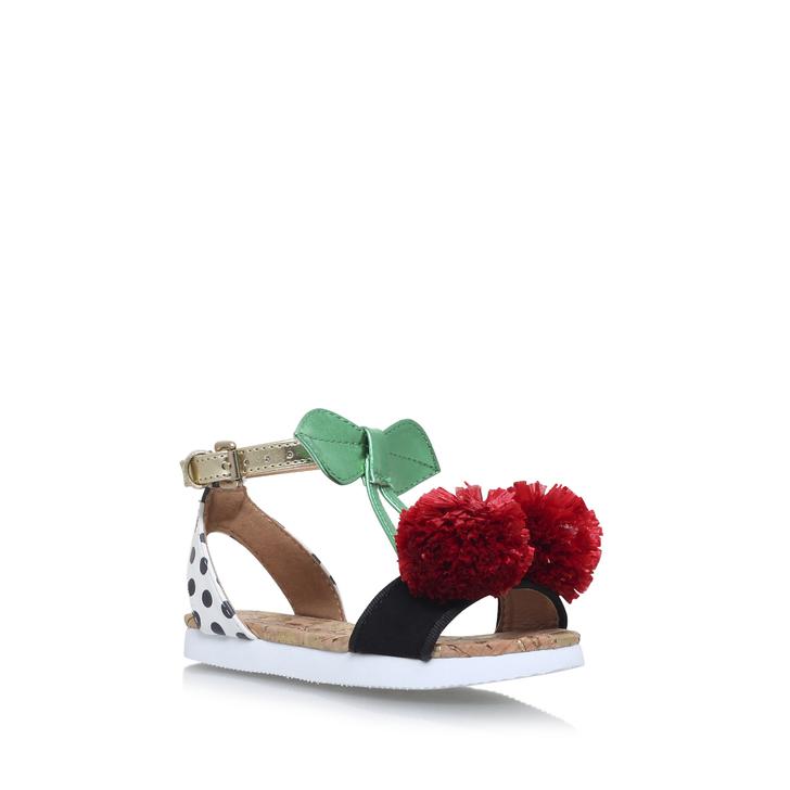 2c5250e63 Very Cherry White Flat Sandals By Mini Miss KG