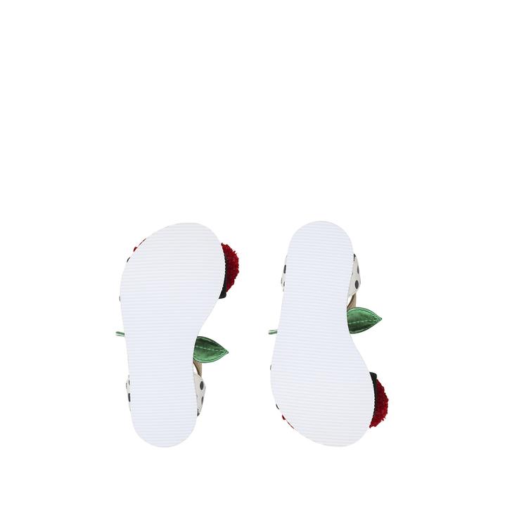 6f0729bafc2e Very Cherry White Flat Sandals By Mini Miss KG