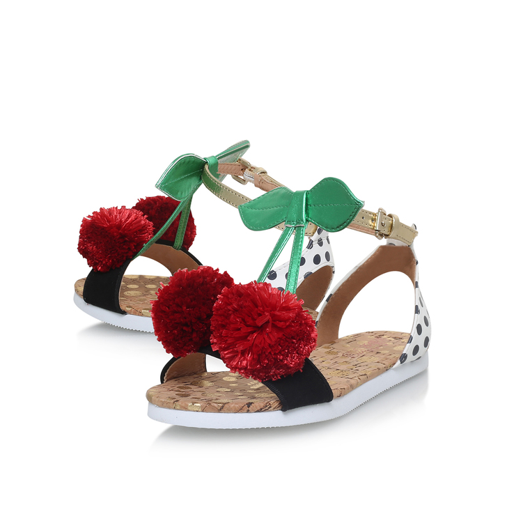 a03a32f6921b Very Cherry Girls White Flat Sandals By Mini Miss KG