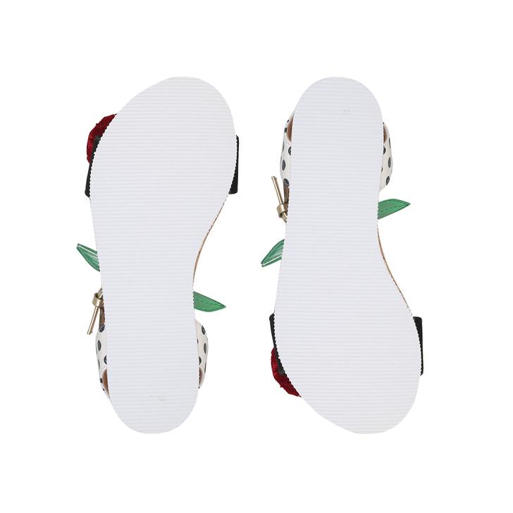 11dbb6299 Very Cherry Girls White Flat Sandals By Mini Miss KG