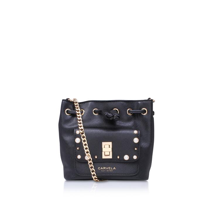 Pearl X Body Black Cross Body Bag By Carvela