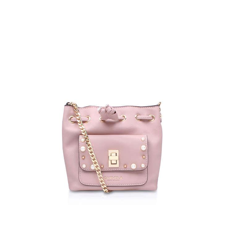 Pearl X Body Pink Cross Body Bag By Carvela