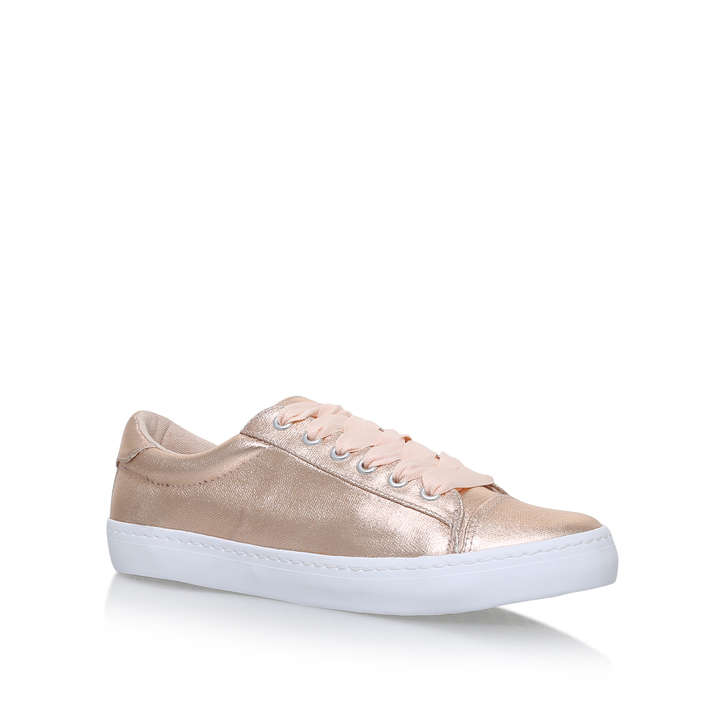 Lotus Metallic Flat Lace Up Trainers By