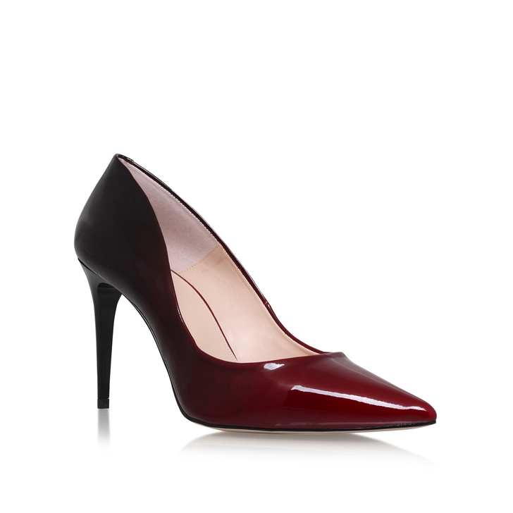 Alicia Red And Black Mid Heel Court Shoes By Carvela Kurt Geiger ...