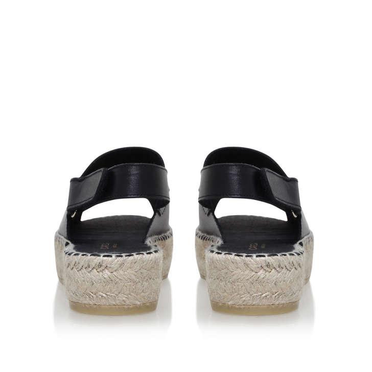 728e3f90ec4a Kinder Black Flat Espadrille Sandals By Carvela