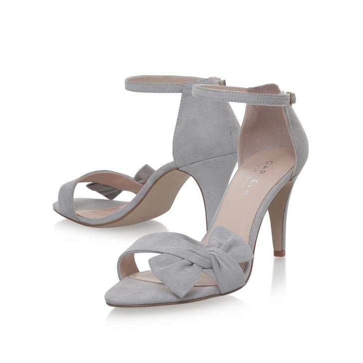 721cfb77ae Kannie Grey Mid Heel Sandals By Carvela | Kurt Geiger