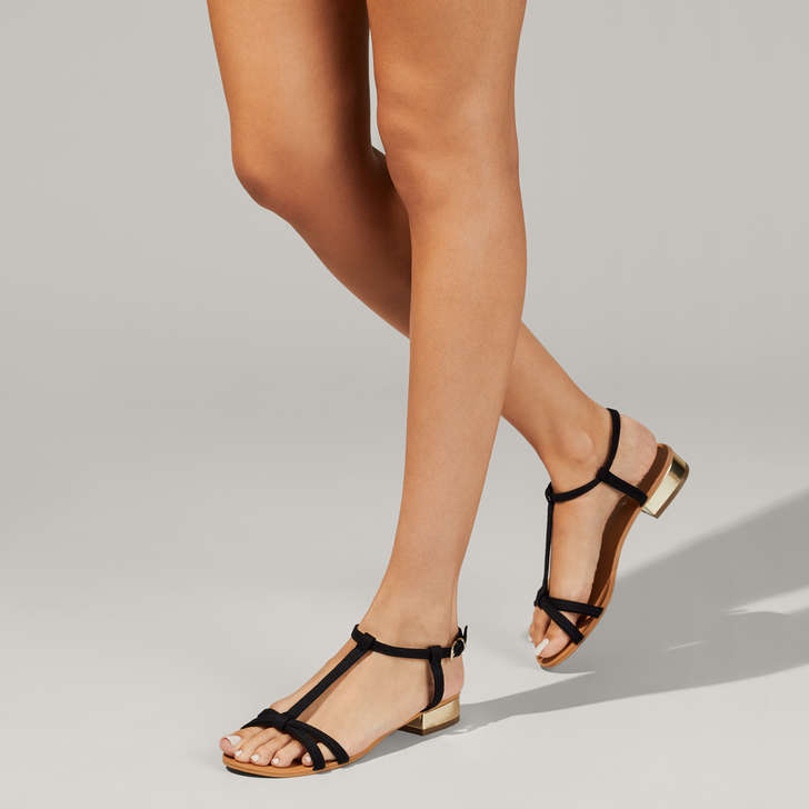a3b2cb7c2 Bravo Black Flat Sandals By Carvela | Kurt Geiger