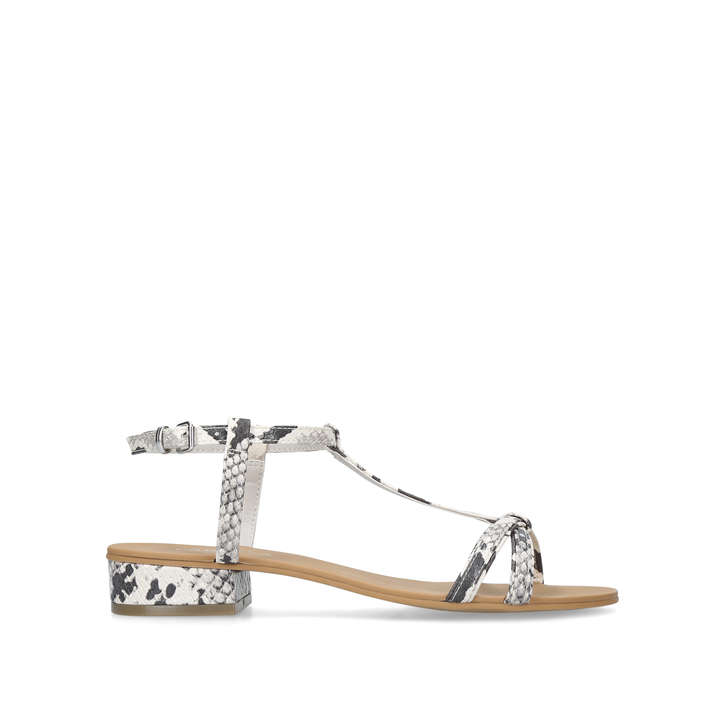 1fceed9a8 Bravo White Flat Sandals By Carvela | Kurt Geiger