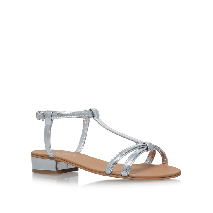 a999f981c Bravo Silver Flat Sandals By Carvela