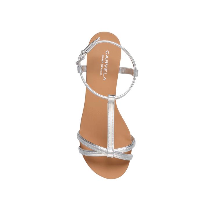Bravo Silver Flat Sandals By Carvela Kurt Geiger