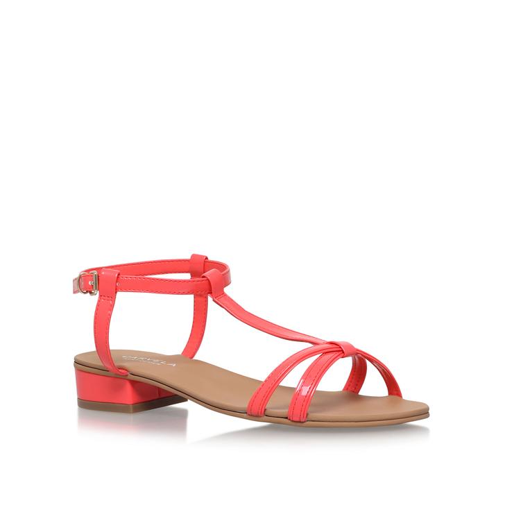 Bravo Orange Flat Sandals By Carvela