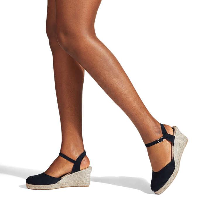 25935a03cb0 Sabrina 2 Black Espadrille Wedge Sandals By Carvela | Kurt Geiger