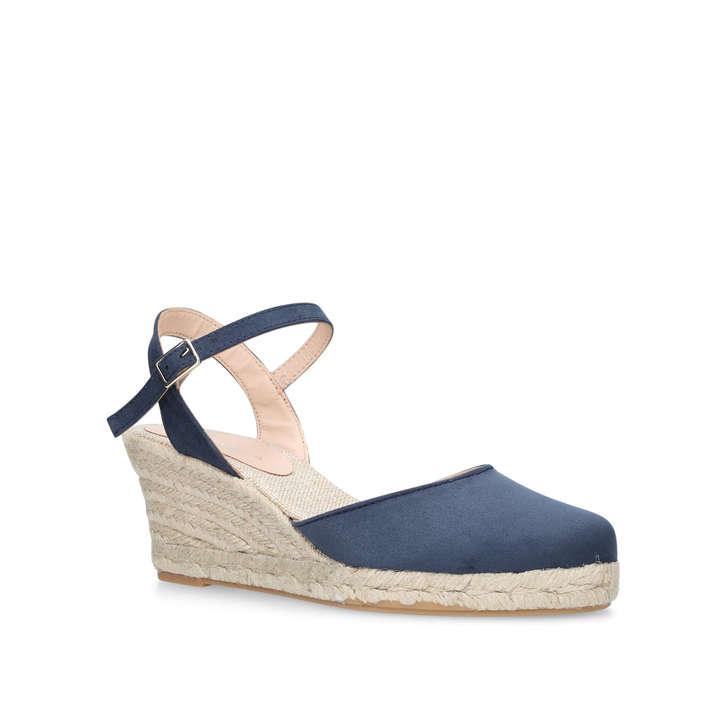 27842e5a3b2 Sabrina 2 Navy Espadrille Wedge Sandals By Carvela | Kurt Geiger