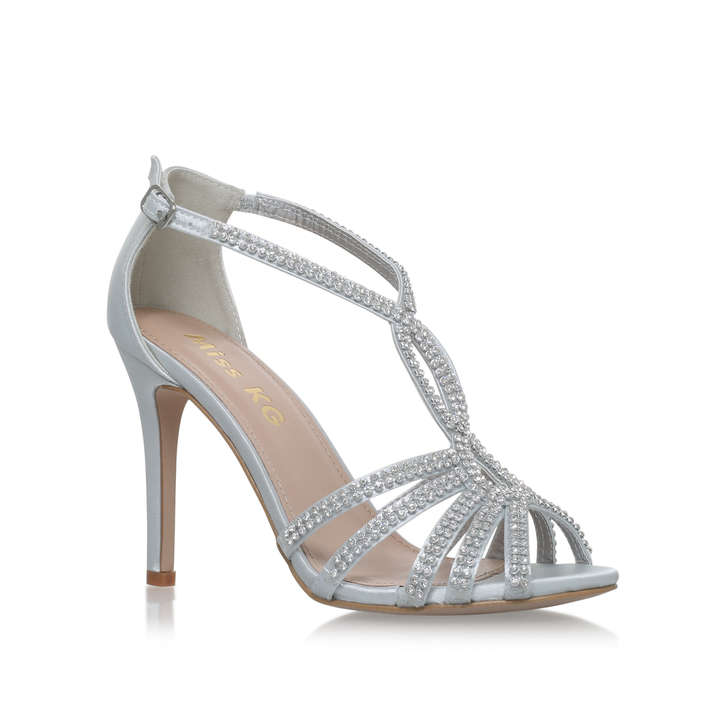714613ab8430d5 Pepper Silver High Heel Sandals By Miss KG
