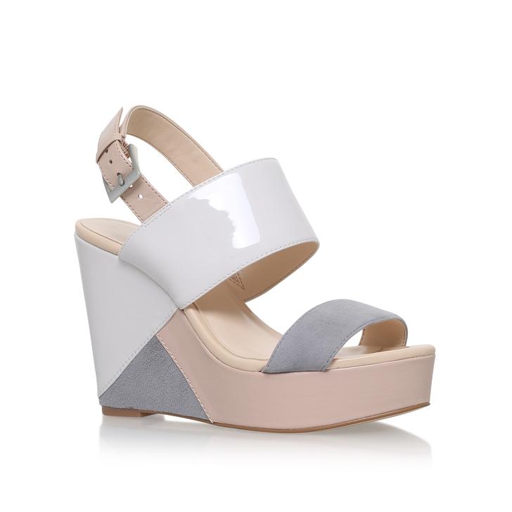 af75fc2c2464 Dreamz Nude High Heel Wedge Sandals By Nine West
