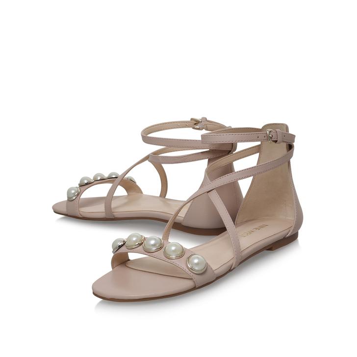 afeda4255e99 Dane Pink Flat Sandals By Nine West
