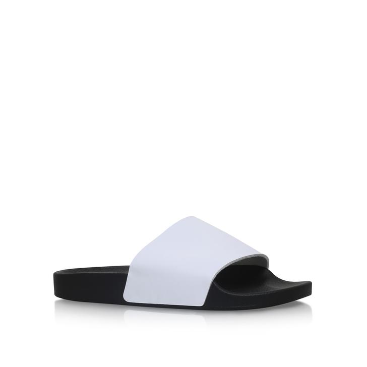 4e51c9a8dbf Lydd White Flat Sliders By KG Kurt Geiger