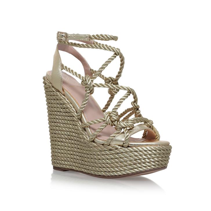 notty metallic high heel wedge sandal from kg kurt geiger
