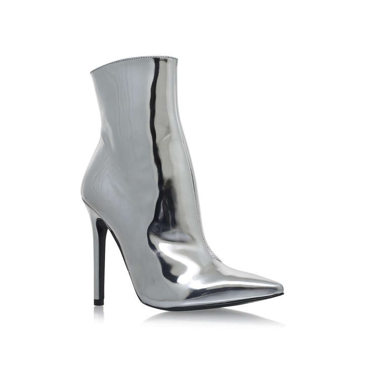 Good Silver High Heel Ankle Boots By Carvela Kurt Geiger | Kurt Geiger