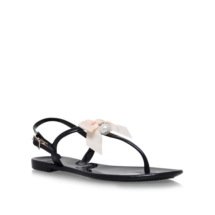 10a3fd206 Dante Black Flat Sandals By Miss KG