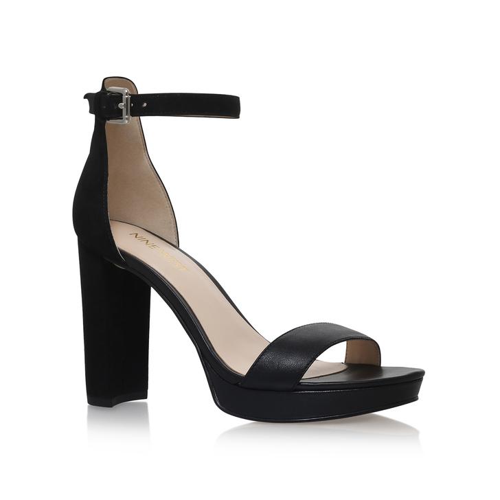 5b9bb69758 Dempsey Black High Heel Sandals By Nine West | Kurt Geiger