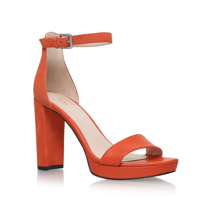 3587482d4e95 Dempsey Orange High Heel Sandals By Nine West