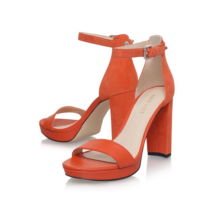 Dempsey Orange High Heel Sandals By Nine West  d995c790099e